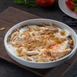 Fattah with yogurt and Chicken