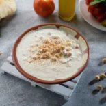 Msabaha with tahina and yogurt
